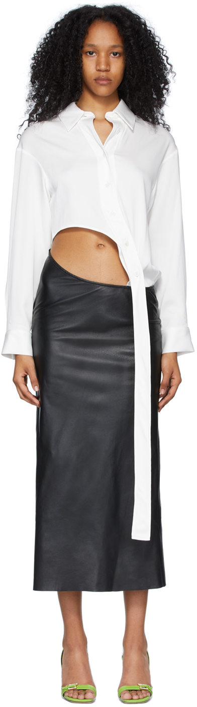 Black & White Connected Shirt-To-Skirt Dress