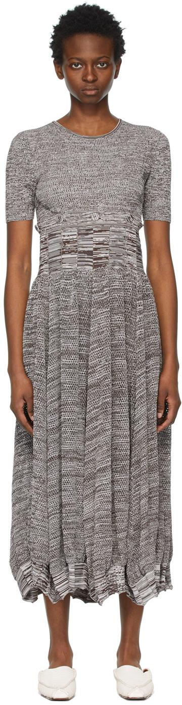 Brown Deconstruct Cocoon Tee Dress