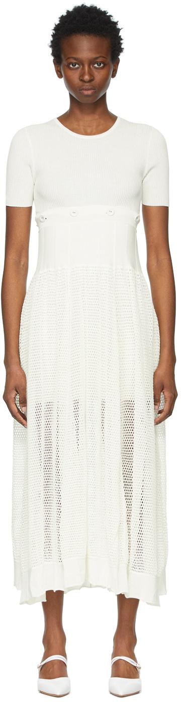 White Deconstruct Cocoon Tee Dress