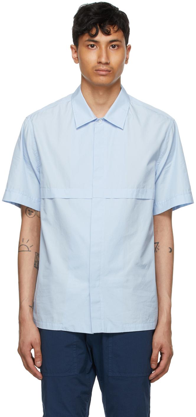 Blue Bufaor Bagio Short Sleeve Shirt