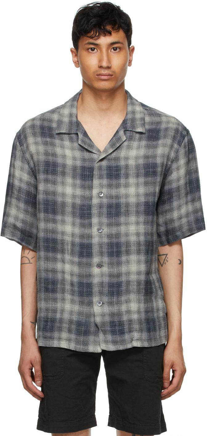 Grey Linen Solana Romaso Short Sleeve Shirt
