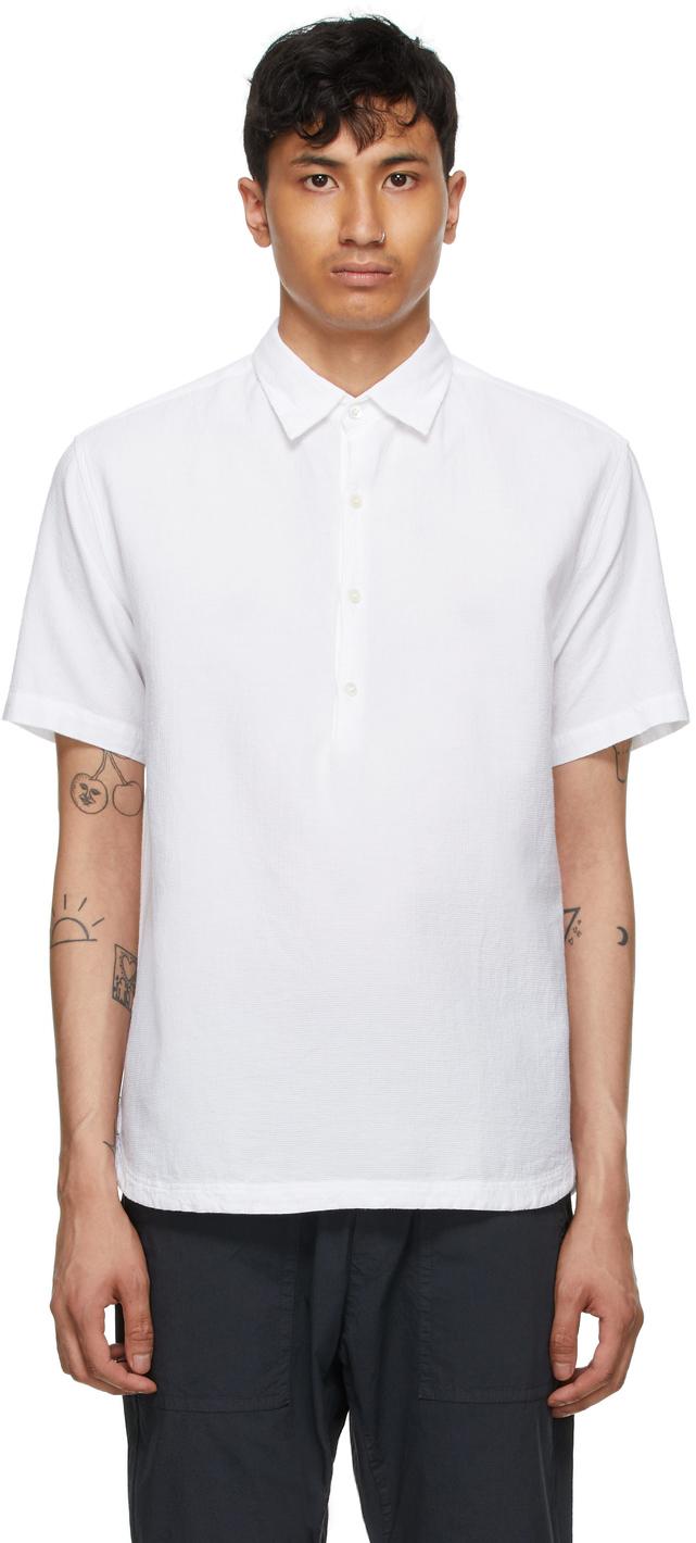 White Camicia Pioppa Short Sleeve Shirt