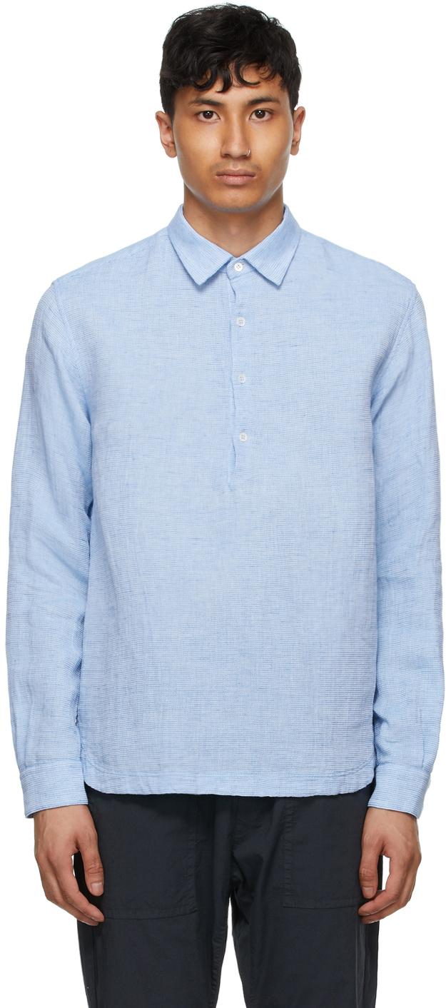 Blue Linen Pavan Regio Shirt