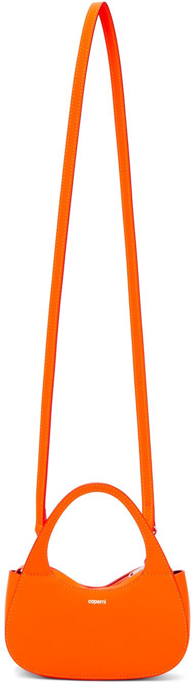 Orange Micro Baguette Swipe Bag