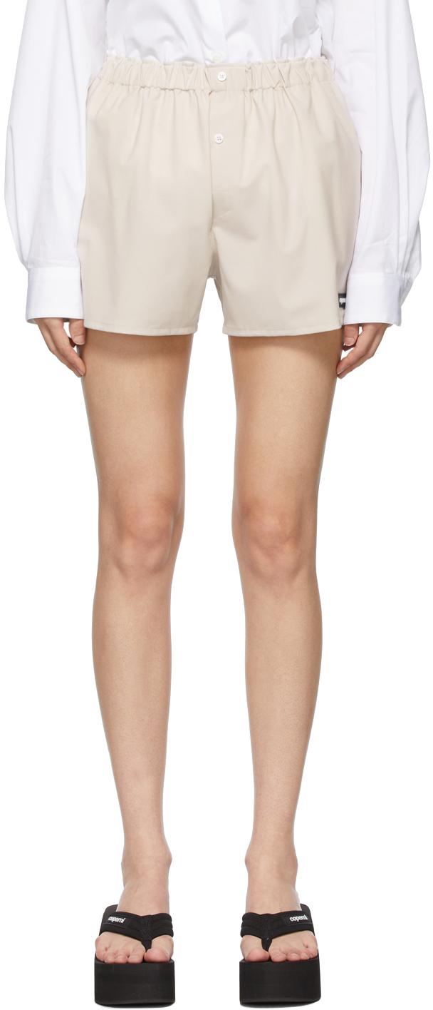 Beige Tailoring Boxer Shorts