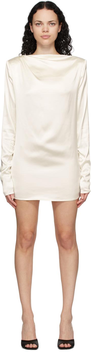 Gauge81 SSENSE Exclusive Off-White Satin Pisa Mini Dress