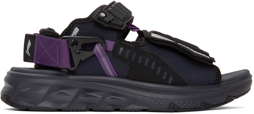 Black & Navy Hiker Sandals