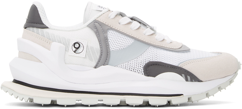 White & Beige Cosmos Sneakers