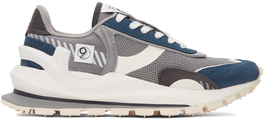 Grey & Navy Cosmos Sneakers