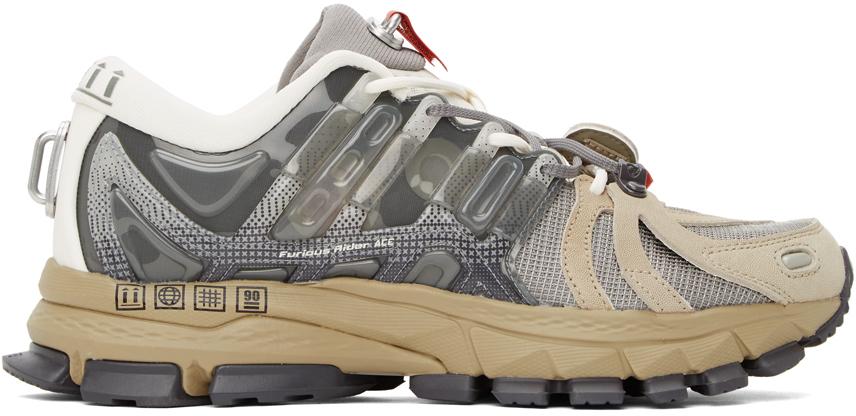 Grey & Khaki Furious Rider Ace 1.5 Sneakers