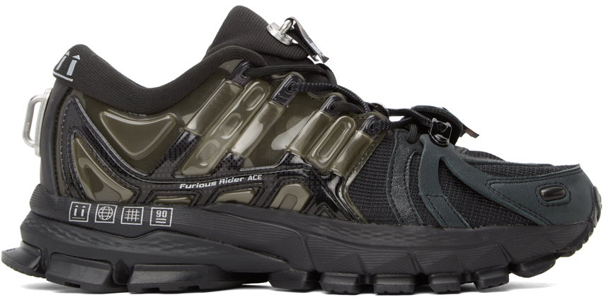 Black & Grey Furious Rider Ace 1.5 Sneakers