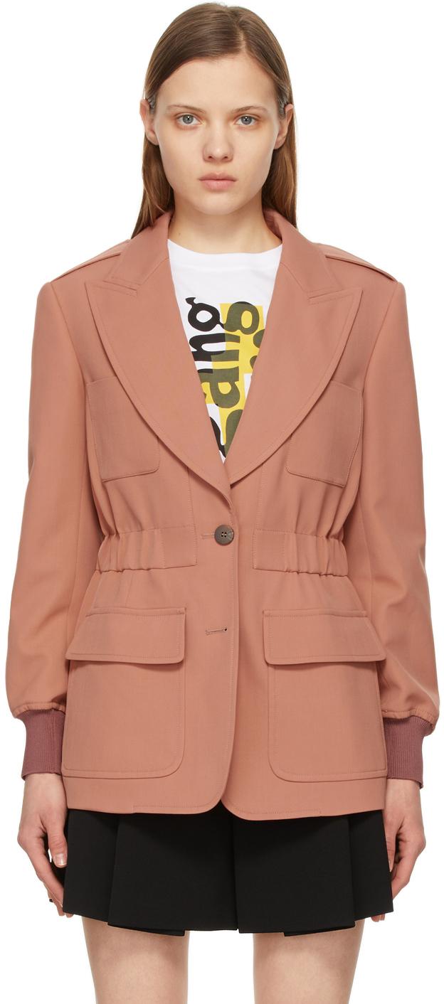 Chloé 粉色羊毛西装外套