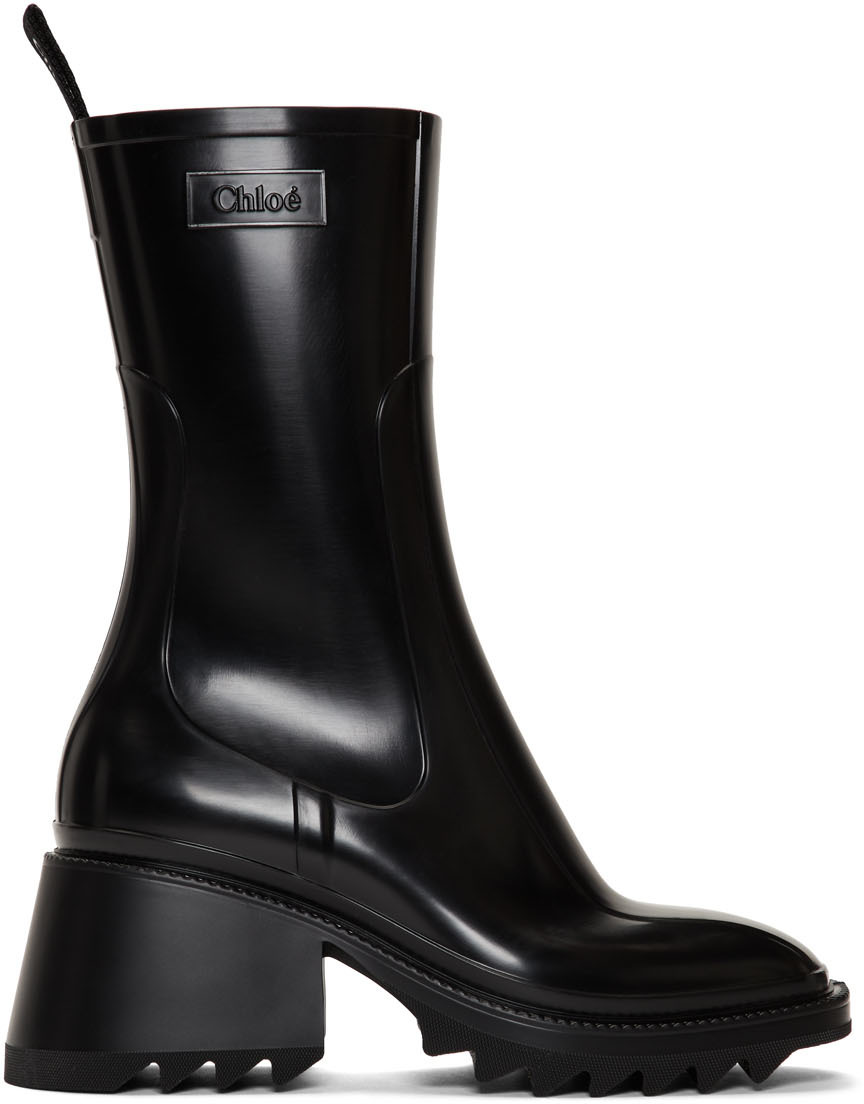 Black PVC Betty Rain Boots