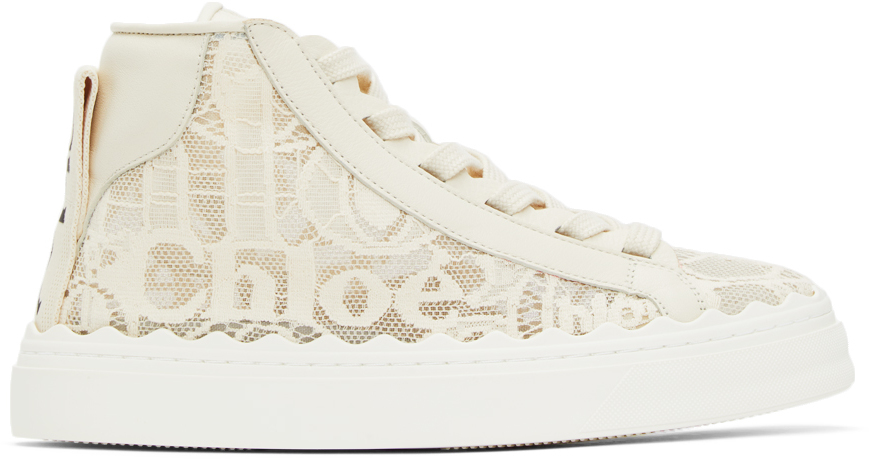 Off-White Lace Lauren High-Top Sneakers
