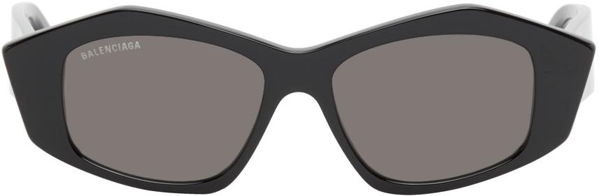 Balenciaga 黑色 Cut 猫眼太阳镜