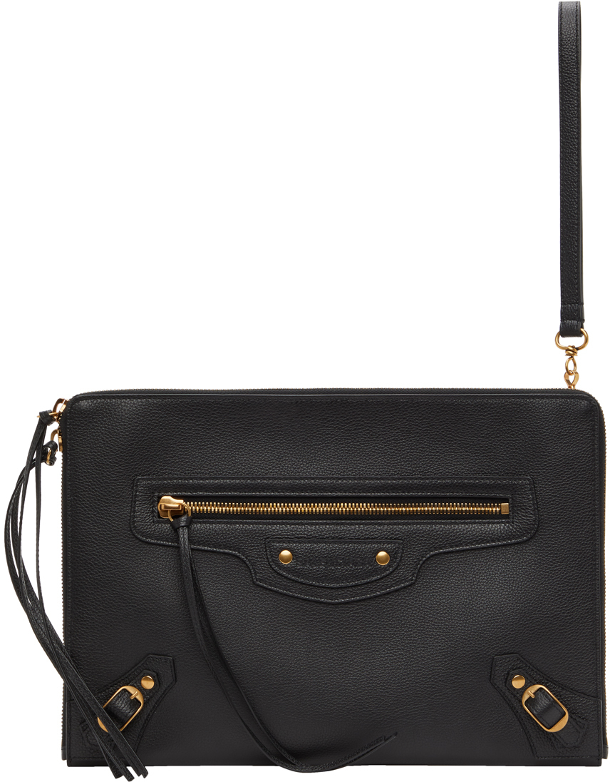 Black Large Neo Classic Pouch