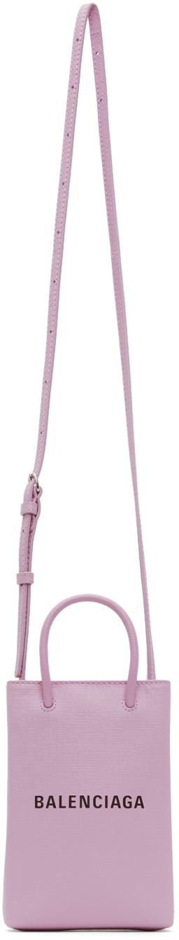Purple Shopping Phone Holder Bag