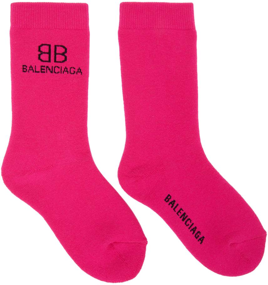 Pink & Black BB Socks