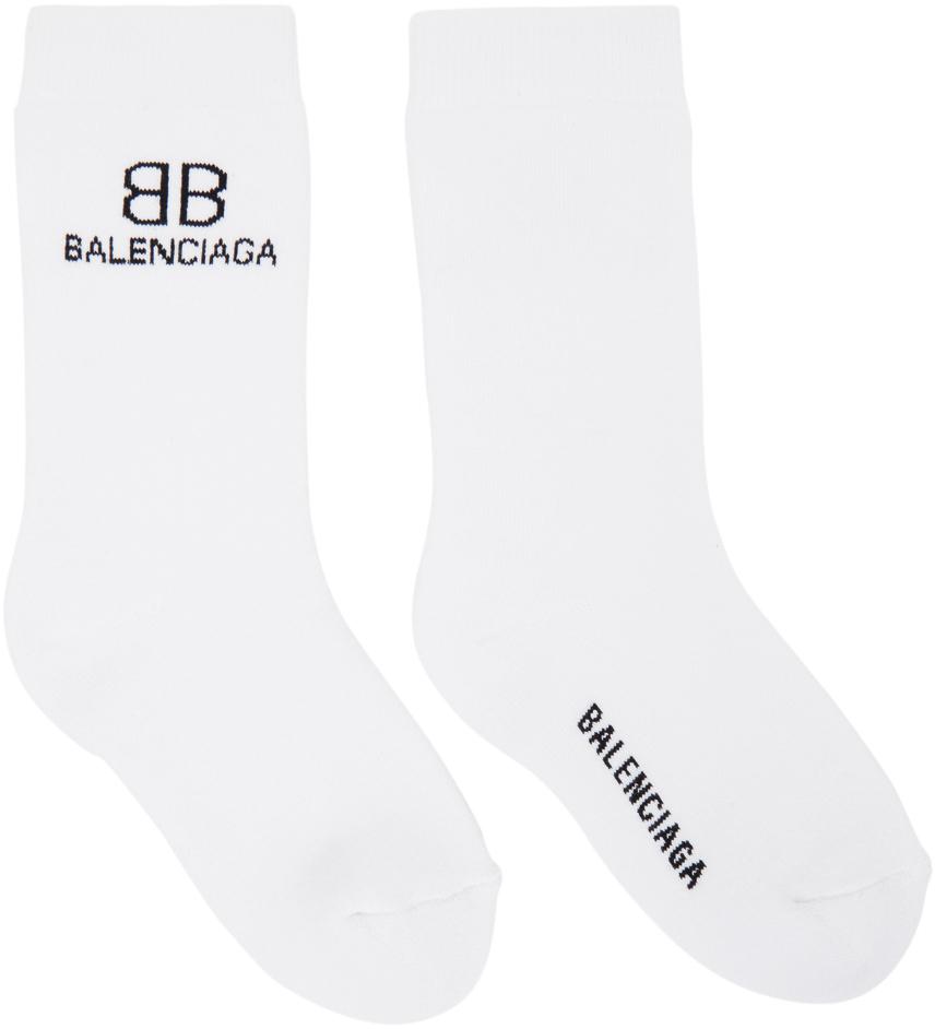 White & Black BB Socks