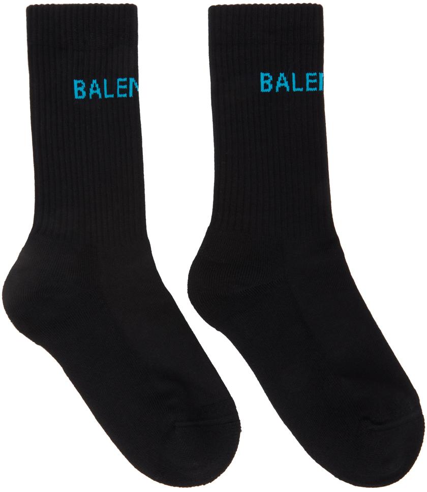 Black & Blue Logo Tennis Socks