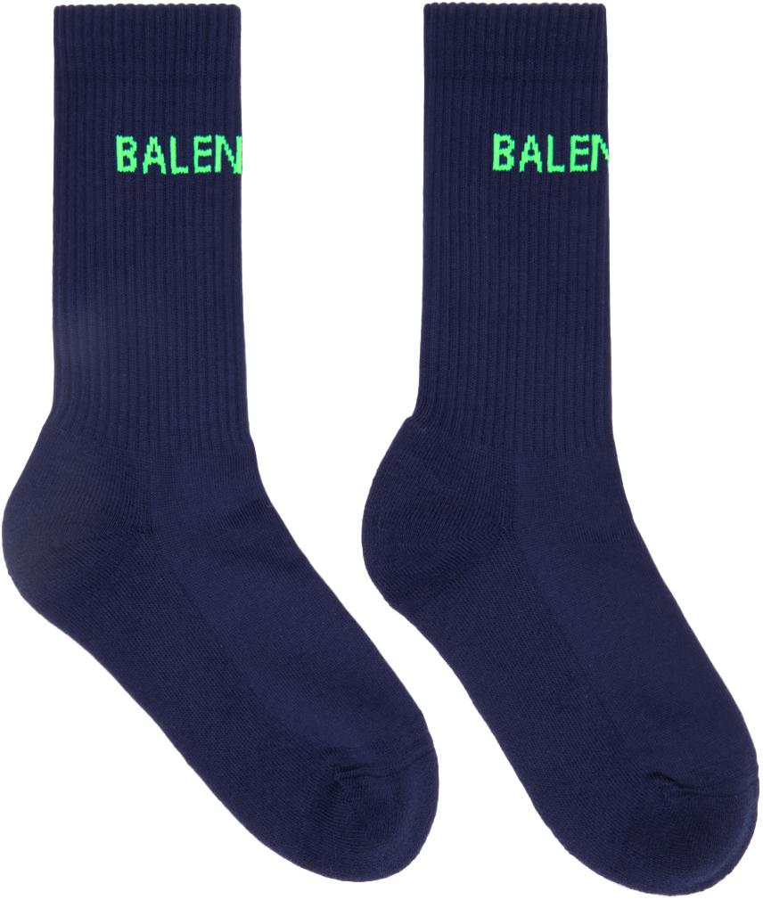 Navy Logo Tennis Socks