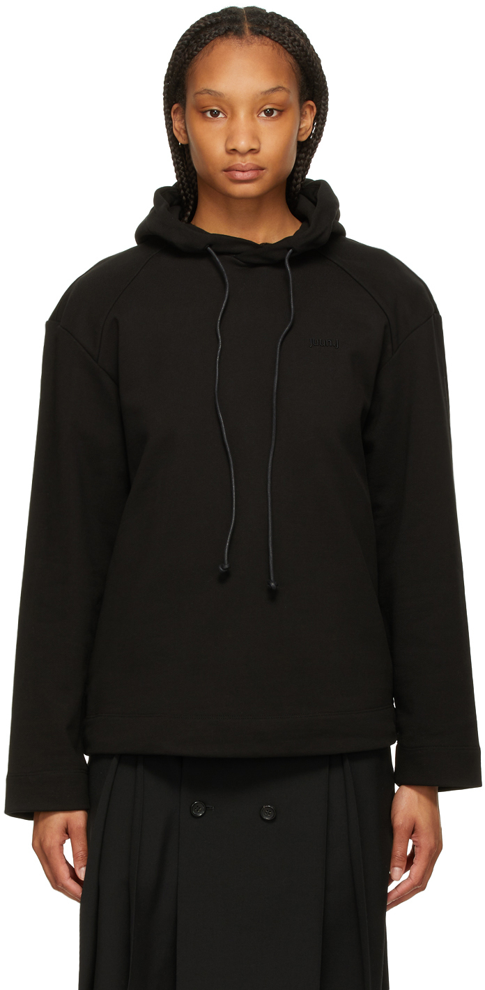 Black Embroidered 'Nouvelle Tendance' Hoodie