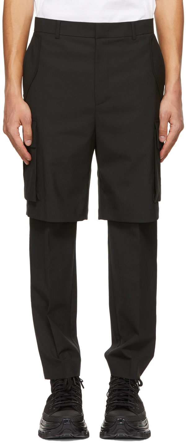 Black Layered Cargo Pants