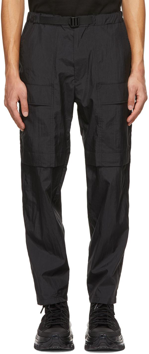 Black Taffeta Outdoor Cargo Pants
