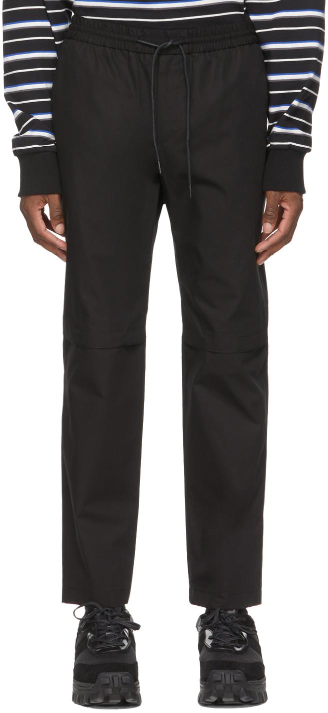 Black Knee-Opening Trousers
