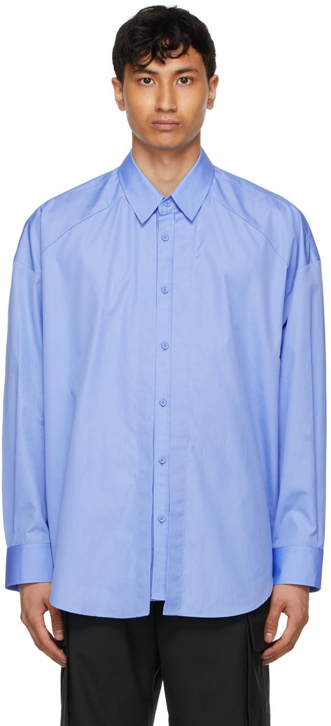 Blue Shirring Shirt