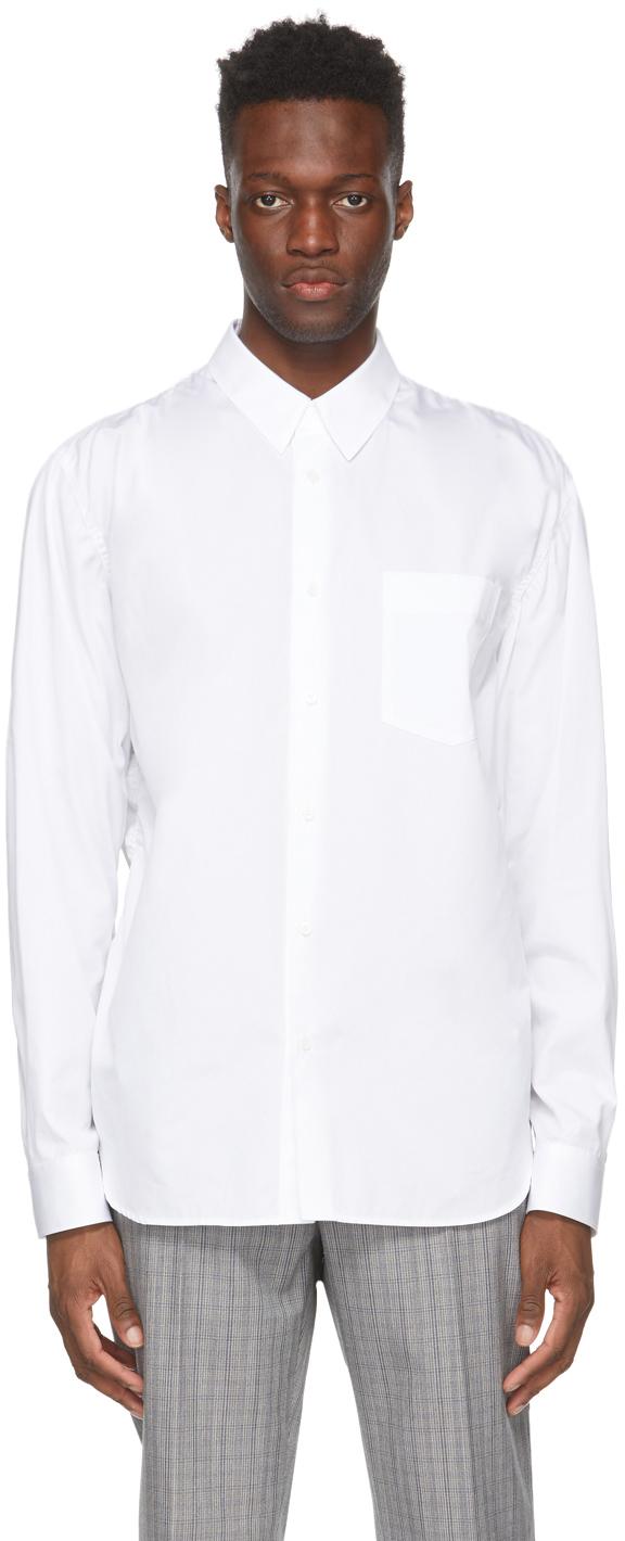 White Ruched Puckering Shirt