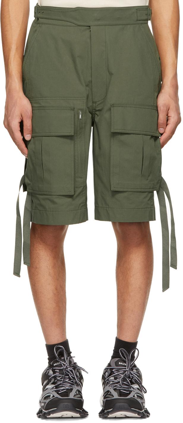 Khaki Gurkha Pocket Shorts