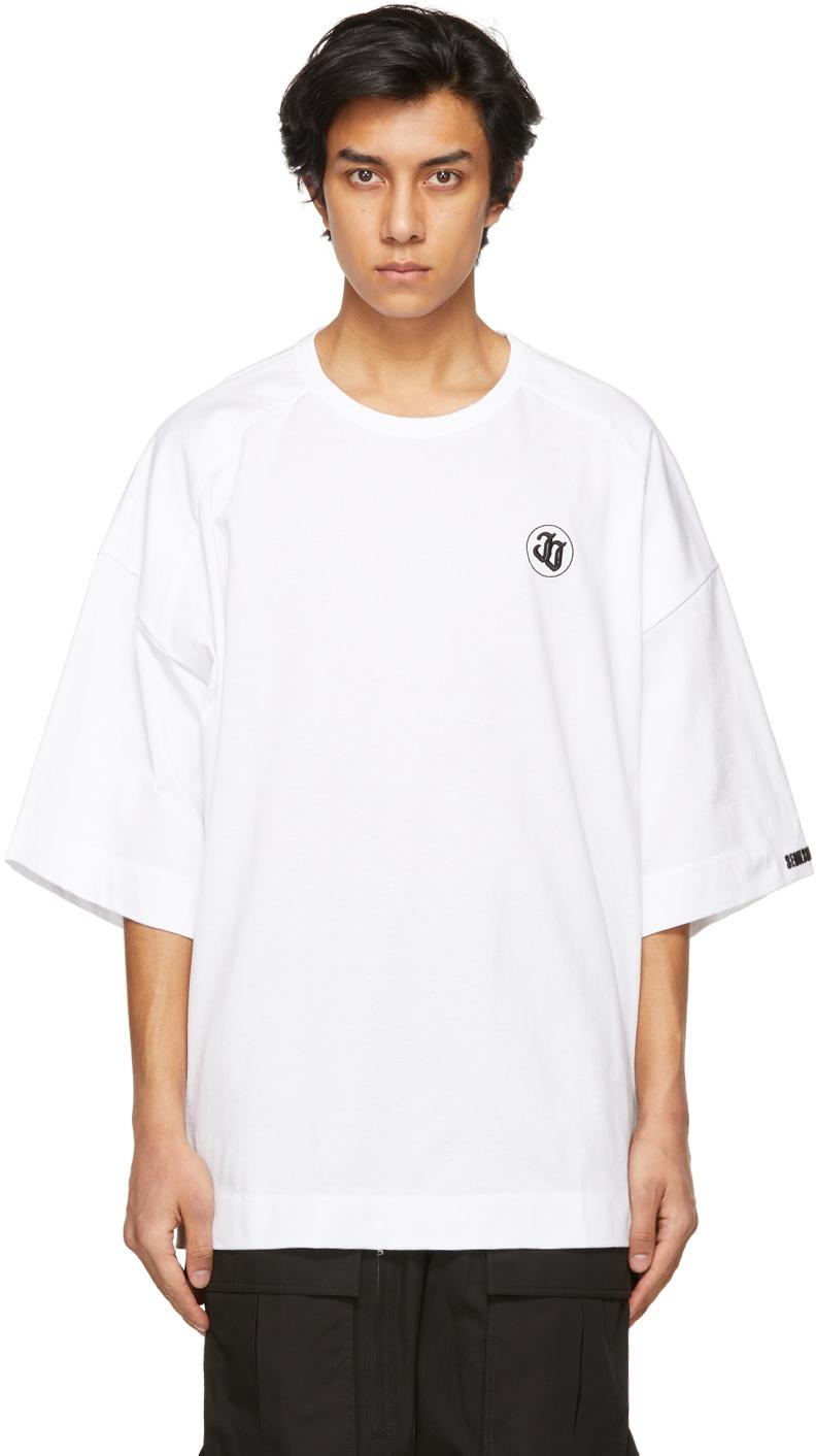 White Embroidered Logo T-Shirt