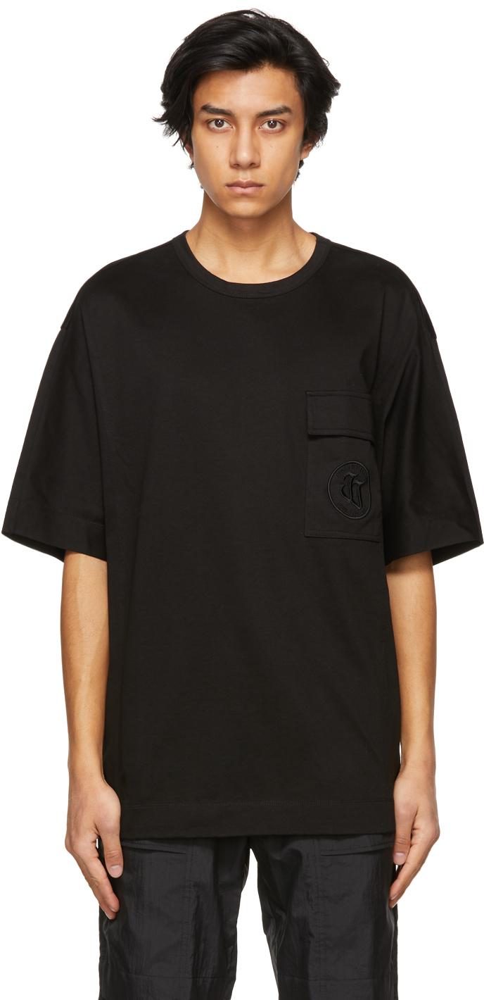 Black Embroidered Logo Pocket T-Shirt