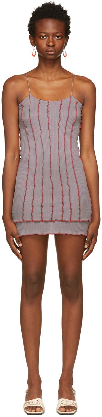 SSENSE Exclusive Purple & Red Skimpy Short Dress