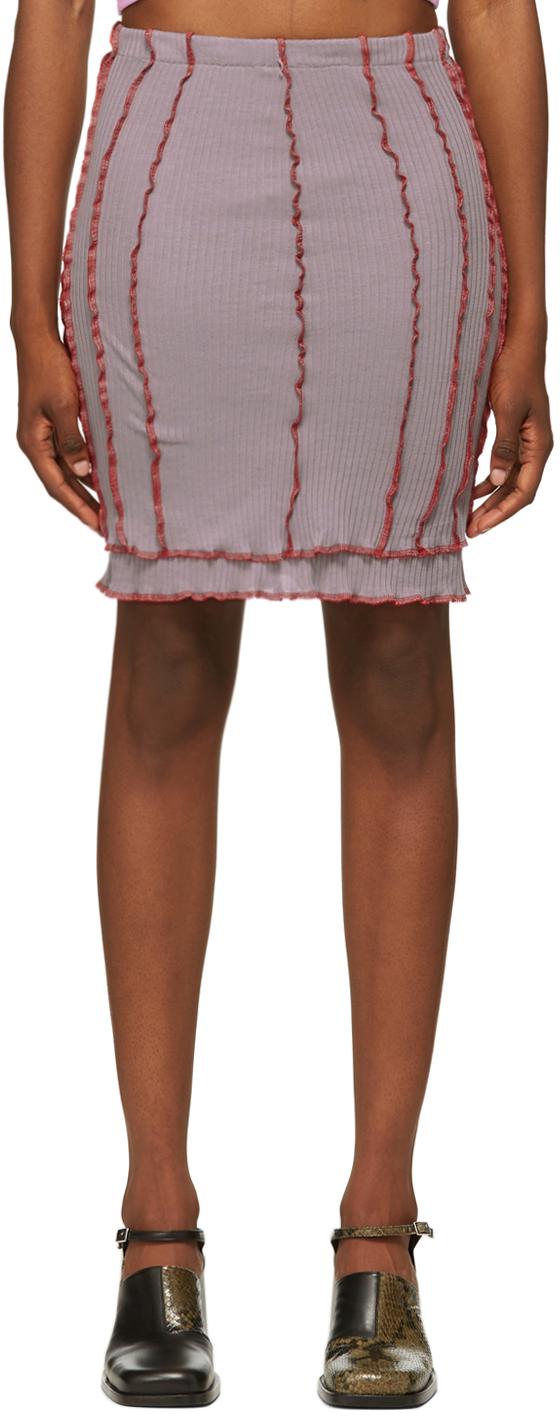 SSENSE Exclusive Purple & Red Skimpy Short Skirt