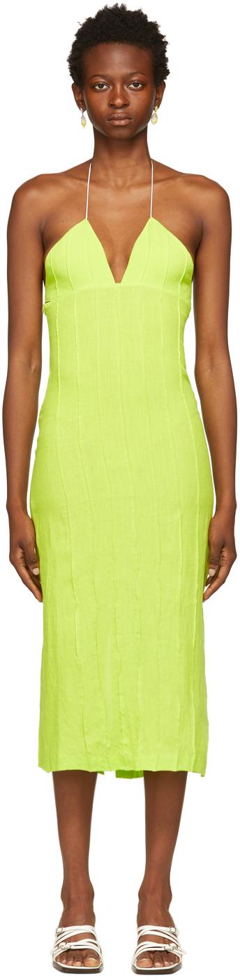 Green Lima Halter Dress