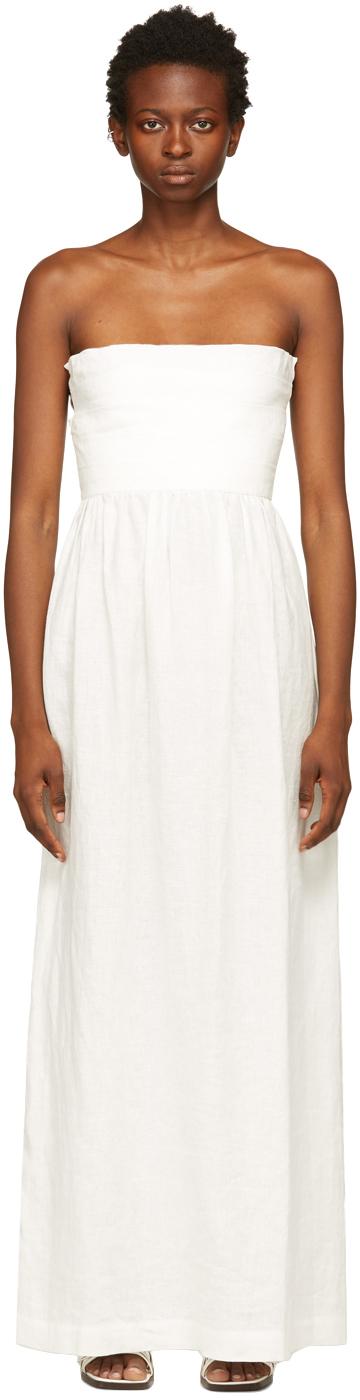 White Oyster Long Dress