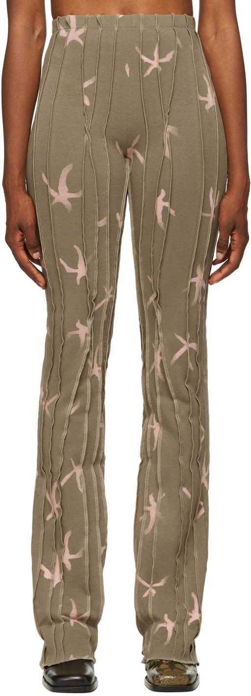 SSENSE Exclusive Beige Twist 3D Stripe Lounge Pants