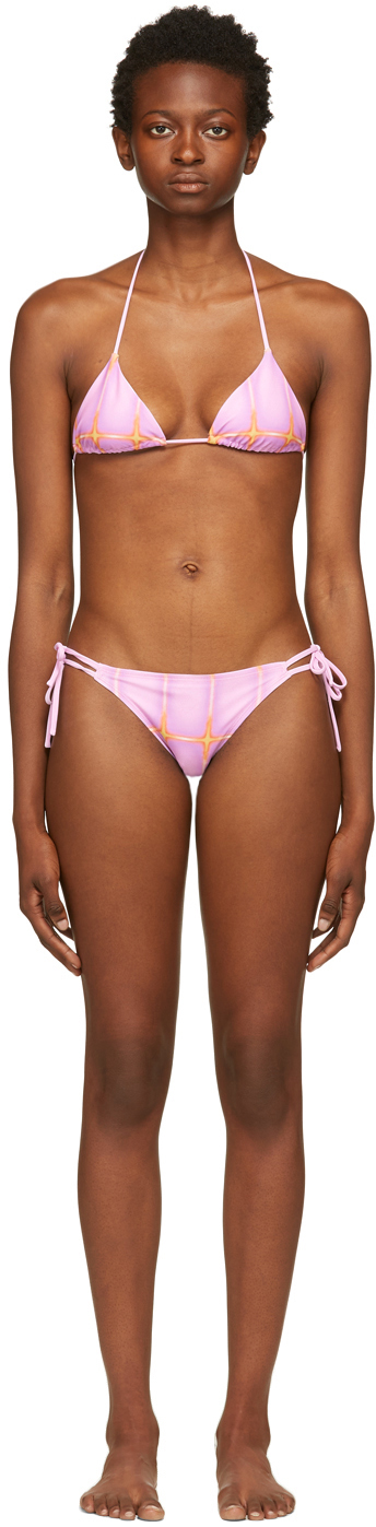 SSENSE Exclusive Pink & Orange Printed Bikini