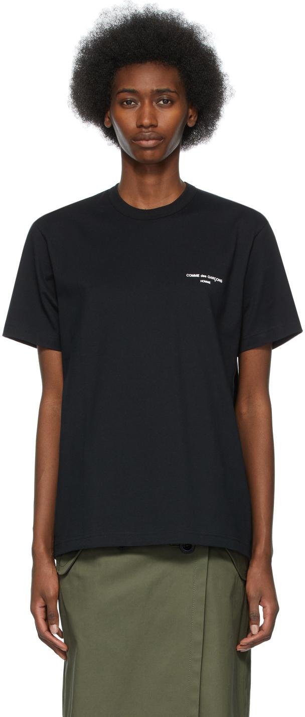 Comme des Garçons Homme Plus 黑色徽标 T 恤