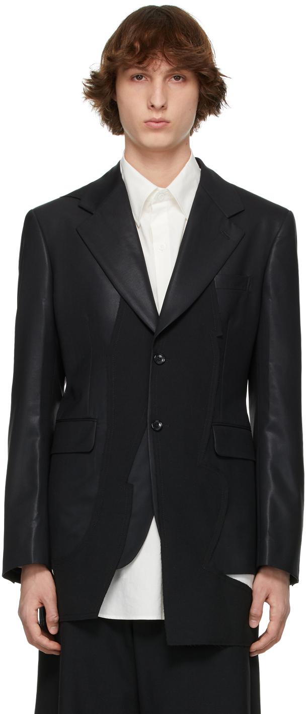 Black Chintz Wool Coat