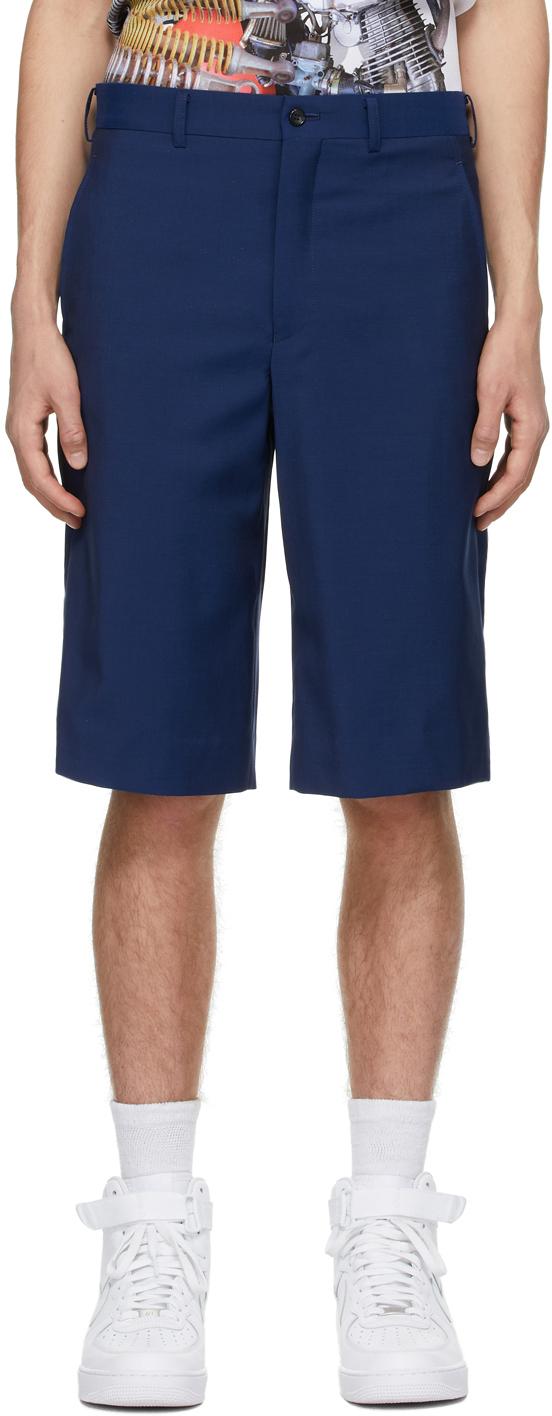 Blue Wool Shorts