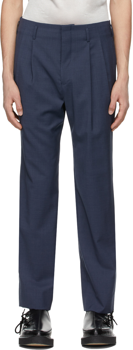 Blue Wool Trousers