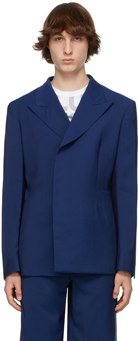Blue Tropical Wool Blazer