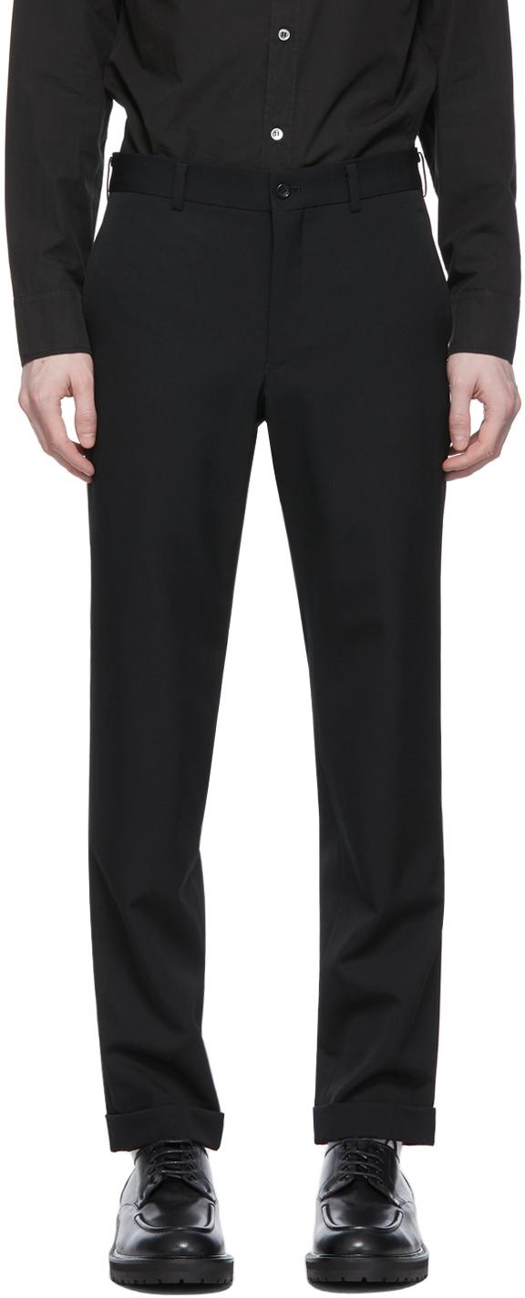 Black Gabardine Trousers