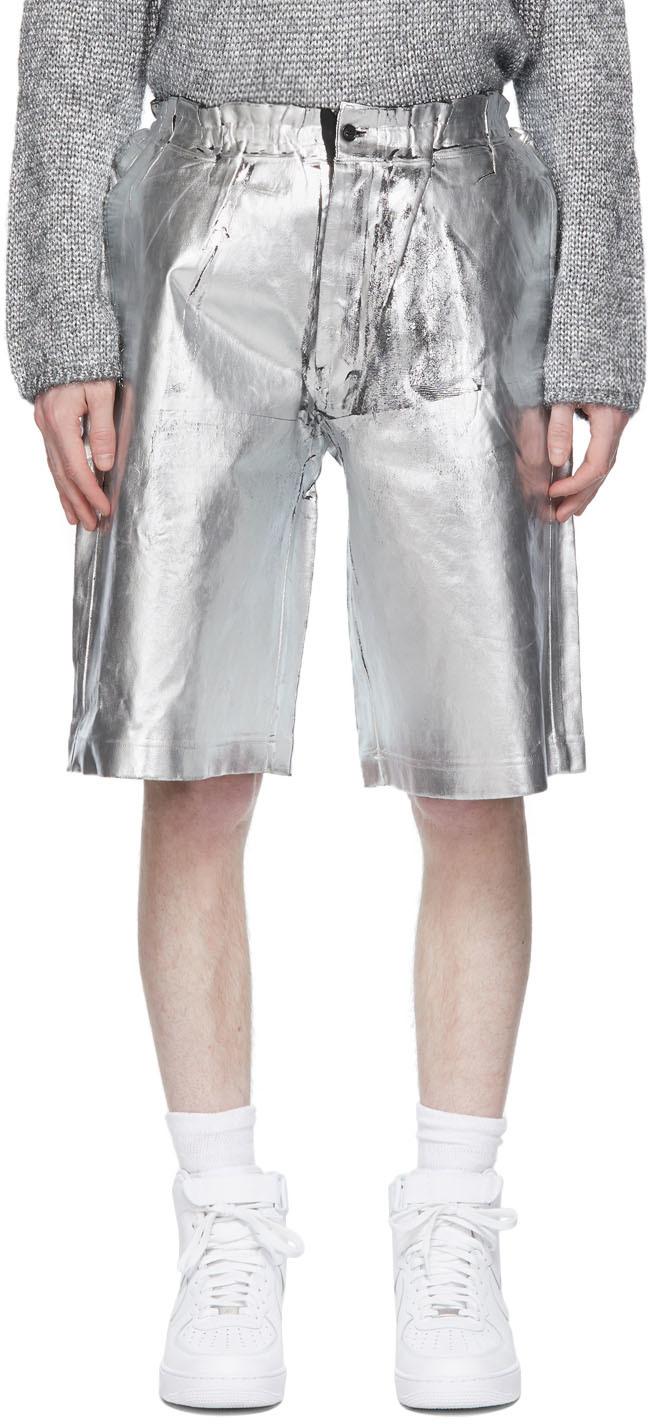 Black & Silver Foil Shorts