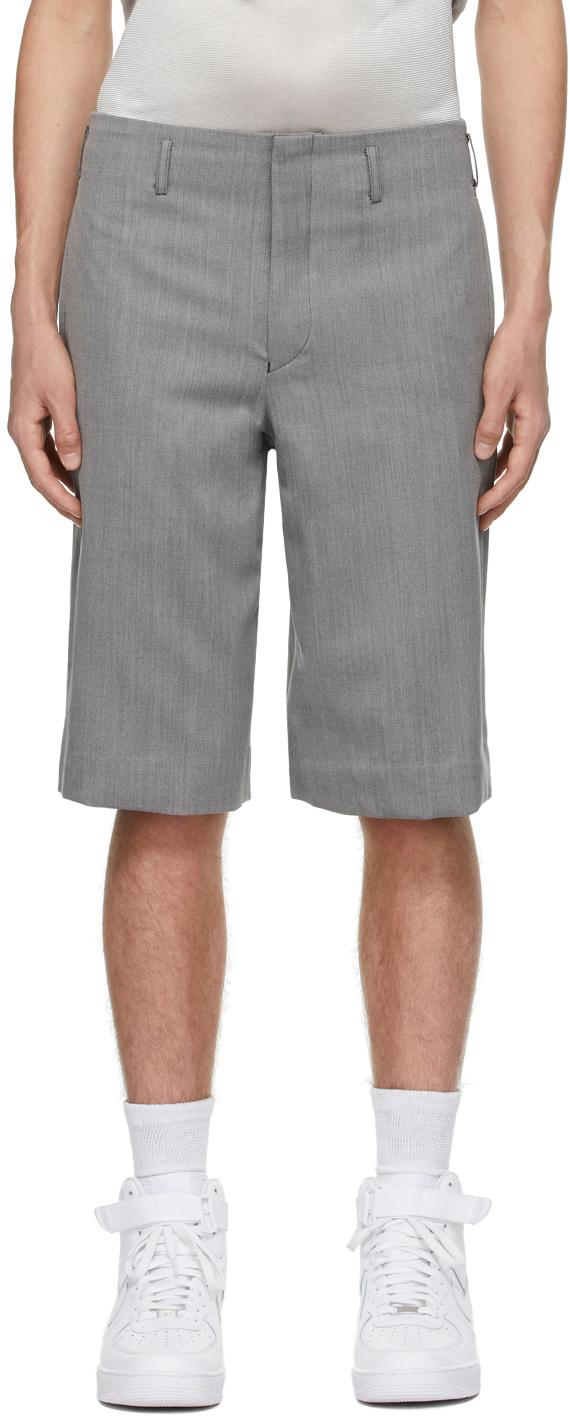 Grey Wool Serge Shorts