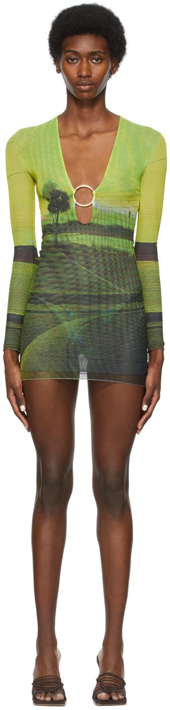 SSENSE Exclusive Multicolor Mesh Ring Dress