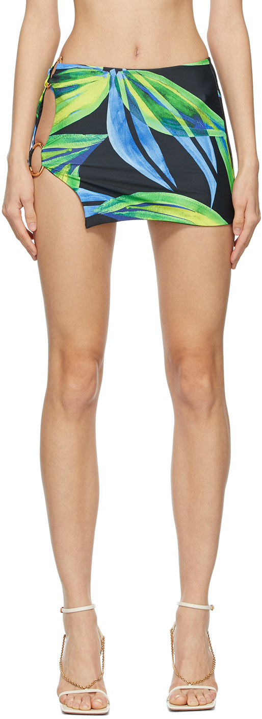 SSENSE Exclusive Blue & Yellow Double Ring Miniskirt